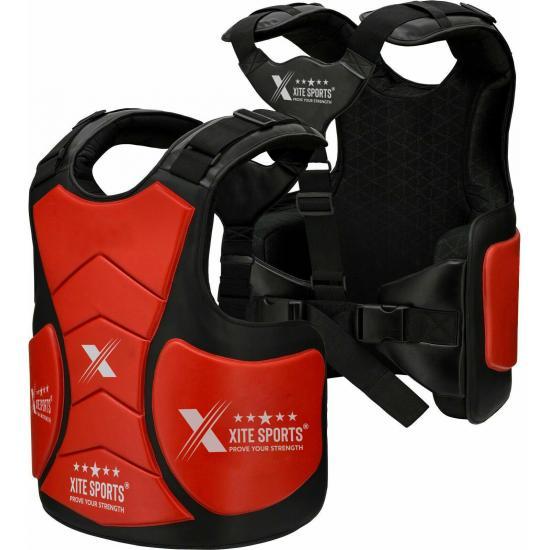 Boxing Belly Pad Chest Guard MMA Body Protector Martial Arts Rib Shield